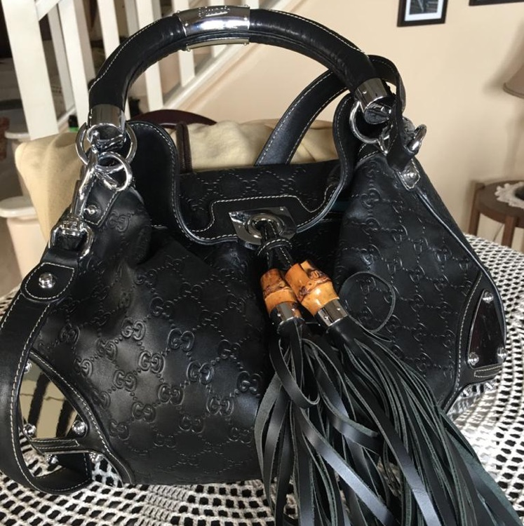 Gucci Indy GG leather black