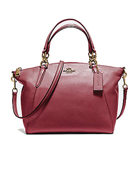 COACH F36675 KELSEY CRIMSON PEBBLED LEATHER SMALL KELSEY