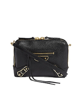 BALENCIAGA Crossbody Edge Black GHW 24cm