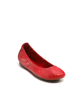 TORY BURCH TB Eddie Ballet in Cherry