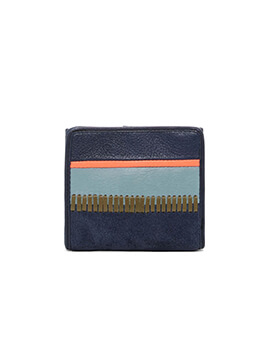 FOSSIL RFID Mini Patchwork Blue