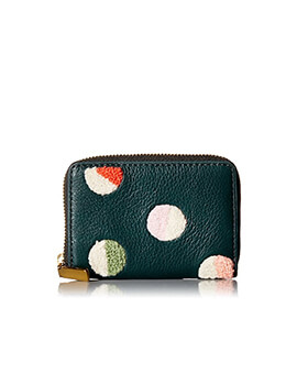 FOSSIL RFID Mini Zip Alpine Green
