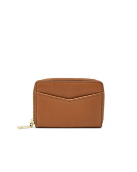 FOSSIL RFID Mini Zip Brown