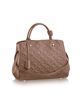 LOUIS VUITTON LV Montaigne MM Taupe 2015