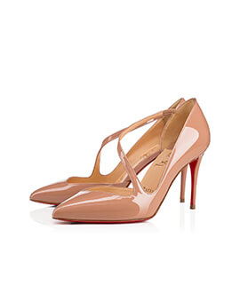 CHRISTIAN LOUBOUTIN CL Jumping Pumps in Nude Patent