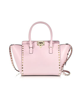 VALENTINO Small Rockstud Grained in Pink