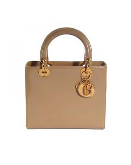 Lady Dior Pathent Vintage Beige Small