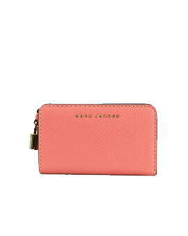 MARC JACOBS COMPACT WALLET CORAL