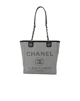 CHANEL Small Deauville Denim Black #16