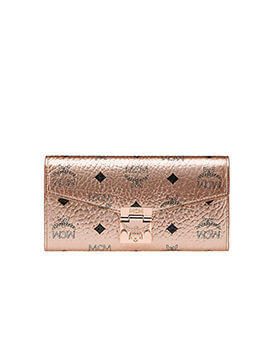 MCM Patricia Wallet in Rose Gold