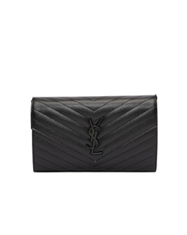 YVES SAINT LAURENT YSL Wallet On Chain in So Black