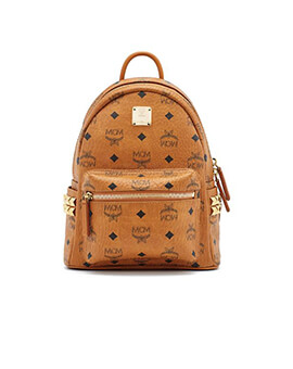 MCM Babe Boo in Cognac