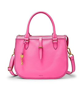 FOSSIL Ryder Satchel Neon Pink