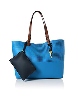 FOSSIL Tote Cerulean