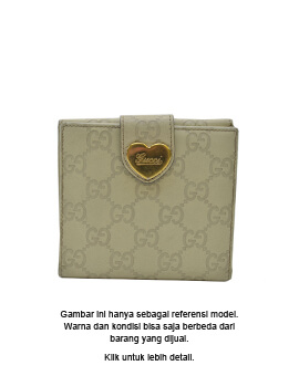 GUCCI  GG Sima Leather  Wallet Small  Ivory