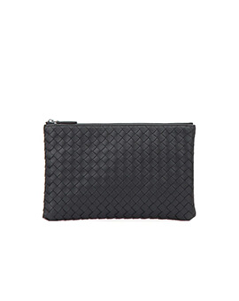 Bottega Veneta LIGHT TOURMALINE INTRECCIATO SMALL DOCUMENT