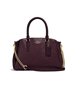 COACH MINI SAGE OXBLOOD
