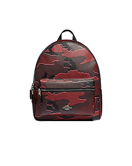 COACH MEDIUM CHARLES CAMO BURGUNDY MULTI BACKPACK