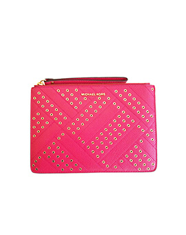 MICHAEL KORS XL ZIP CLUTCH RUBIN RED