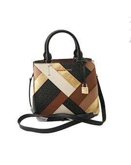 MICHAEL KORS MEDIUM ADELE BLACK MULTI CROSSBODY