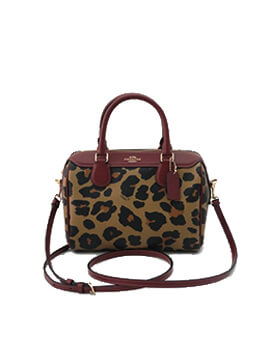 COACH MINI BENNETT LEOPARD NATURAL