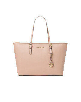 MICHAEL KORS MEDIUM TRAVEL TOTE PASTEL PINK