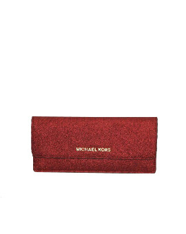 MICHAEL KORS FLAT WALLET CRANBERRY