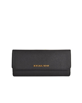 MICHAEL KORS FLAT WALLET BLACK