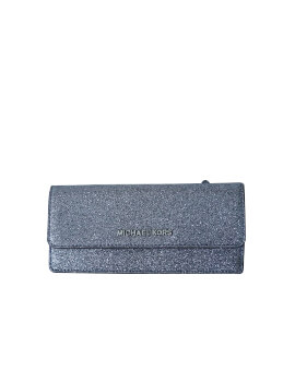 MICHAEL KORS FLAT WALLET DUSTY BLUE