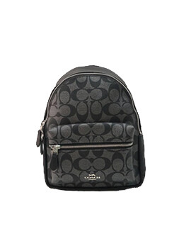 COACH MINI CHARLES BACKPACK SIGNATURE GUN METAL